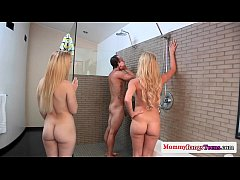 HD Cumswap threesome fun with stepmom and teen