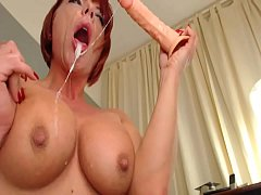 Sloppy Messy Dildo Throat Fuck Solo