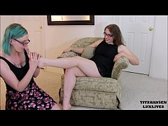 Miss Jane Judge seduces shoe sales clerk lesbian foot worship luxlives