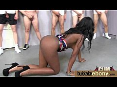 Interracial bukkake sex with black porn star 26