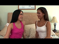 Naughty Lola Foxx seduced her classmate Ariana Fox to miss their lessons and to have some fun