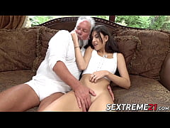 Teenie has a fuck session with old man