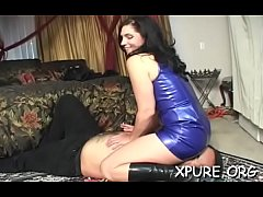 Girls dominating a stud by smothering him with their asses