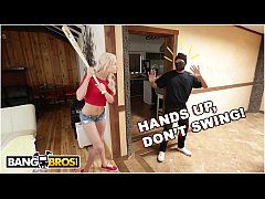BANGBROS - Young Teen Elsa Jean Fucks Black Home Invader Ricky Johnson