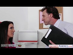 Stockinged office babe Jessica Jaymes fuck hard