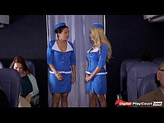 Stewardess Helly Mae caught rubbing her pussy o...