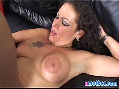 Busty step mommy gagged and banged by big rod