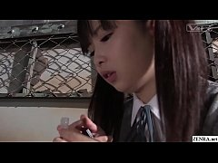 JAV from the future featuring angry schoolgirls who milk classmates and protest topless in HD with English subtitles