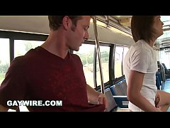 GAYWIRE - Kevin Crows and Tyler Bentley Gay Sex on Project City Bus