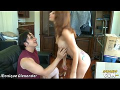 Sexy Monique Alexander gets facialized