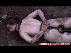 BDSM Outdoor Humiliation - Dig Slave Dig