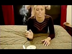 smoking blonde bitch takes it from behind