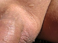 65 year old Grandpa shaved uncut cumming in the...