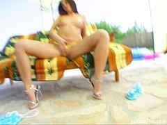 Ass Traffic Bad girl penetrated by two dongs an...