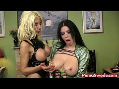 Blonde Euro Puma Punishes Her Busty Slave