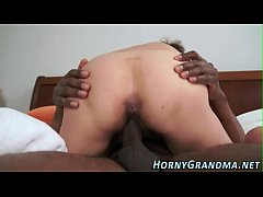 Grandma takes black cock