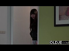 new old young innocent teen fucked in her mouth and pussy by old man