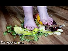 Tiny Powerful FEET Squashing Yummy Fruit