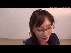 Office Lady Glasses Cumshots Japanese