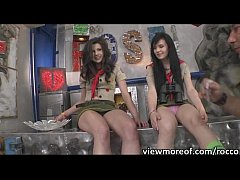 Sexy scout rangers Mazy Teen and Timea Bella in hardcore anal fuck