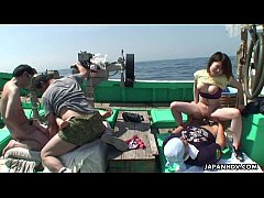 Clip sex Asian fishermen catch some birds they boat fuck