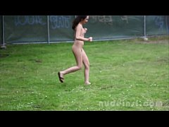 Nude in San Francisco:  Sasha Yung jogs around a park naked in public