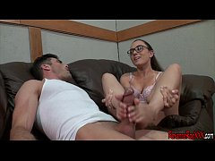 Worship Roxanne Rae's Feet For a Footjob with Lance Hart