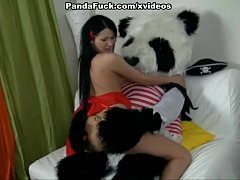 huge toy panda fuck young girl