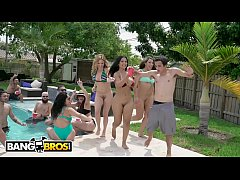 BANGBROS - Latin Babes With Big Tits and Big Asses Getting Fucked At A Pool Party