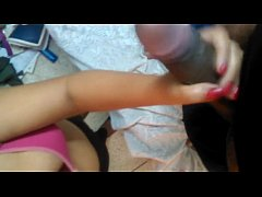 Desi girl friend hand job her Bf's long dick with clear Hindi audio 480p