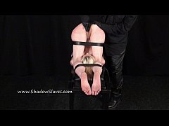 Fisting punishment and deep bondage slave domination of restrained blonde bizar