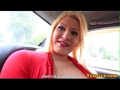 bigtit latina tranny doggystyled after bj