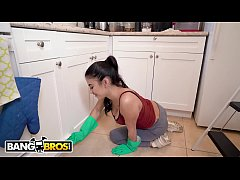 bangbros - gunner gets his pipe cleaned by a young and thin latin housekeeper
