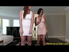 HD Glamcore babes doggystyled and titfucked