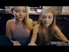 TEENFIDELITY Tiny Teens Hannah Hays and Riley Star Share a Cock