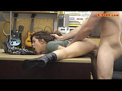 Teen fucked in pawn shop