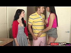 Eva Karera and Heather Night hot ffm threeway action