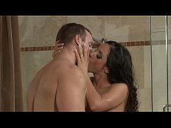 Beautiful Ariella Ferrera fucked in the shower