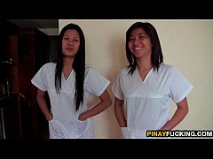 HD Asian Nurses Share A White Dick
