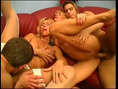 Hot randy cougars fucking two youngs guys