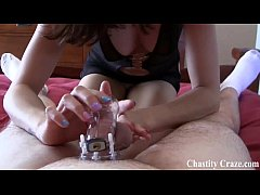 Naughty boys get put in chastity
