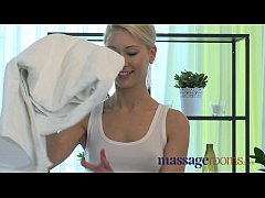 Massage Rooms Young stud blows early but still gives blonde intense orgasm