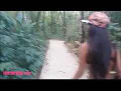 HD Heather deep go out on the boat and walk in the deep jungle gives a quick blowjobs deepthroat