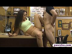 Tight babe hammered by nasty pawn dude at the pawnshop