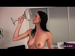 Piss Drinking - Pee guzzling babe Eileen toys her soaking wet pussy