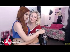 Lesbian camgirls having fun with their tongues I Watch them at PlanetSexCams.com