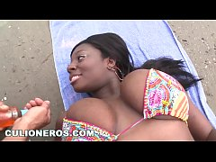 CULIONEROS - Ebony Latina Karina Has Got Giant Real Titties (btc9522)