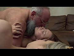 Grandpa has best orgasm when teens suck on his dick and cum swap like naughty girls