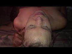 amateur facial blonde milf cum covered facial blast