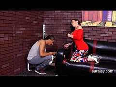 Sara Jay Screws The HandyMans Black Cock!